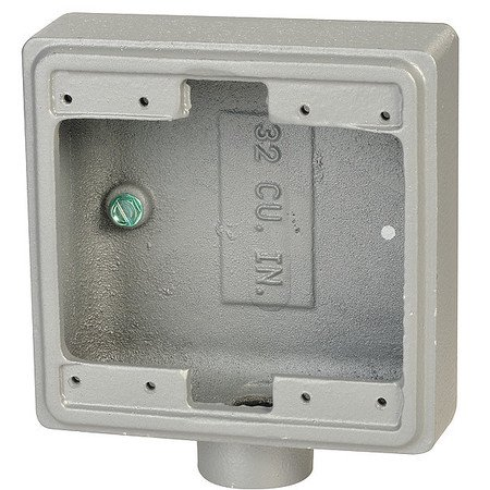 "APPLETON ELECTRIC FD-2-100 Weatherproof Box,4.63""L,4.63""W,2.69""D"