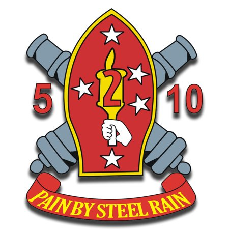 3.8 Inch 2nd Marine Division 5th Battalion 10th Marine Rgt. Sticker Decal 2nd Battalion 5th Marines