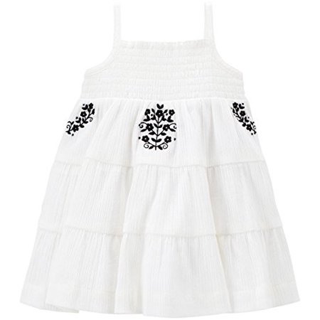 Carter's Baby Girls' Smocked Embroidered Tiered Dress - Smocked Girls Dresses