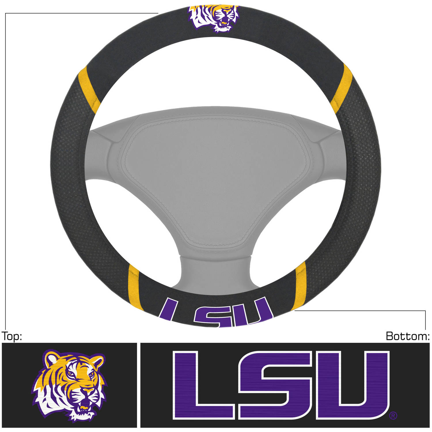 Louisiana State University Steering Wheel Cover