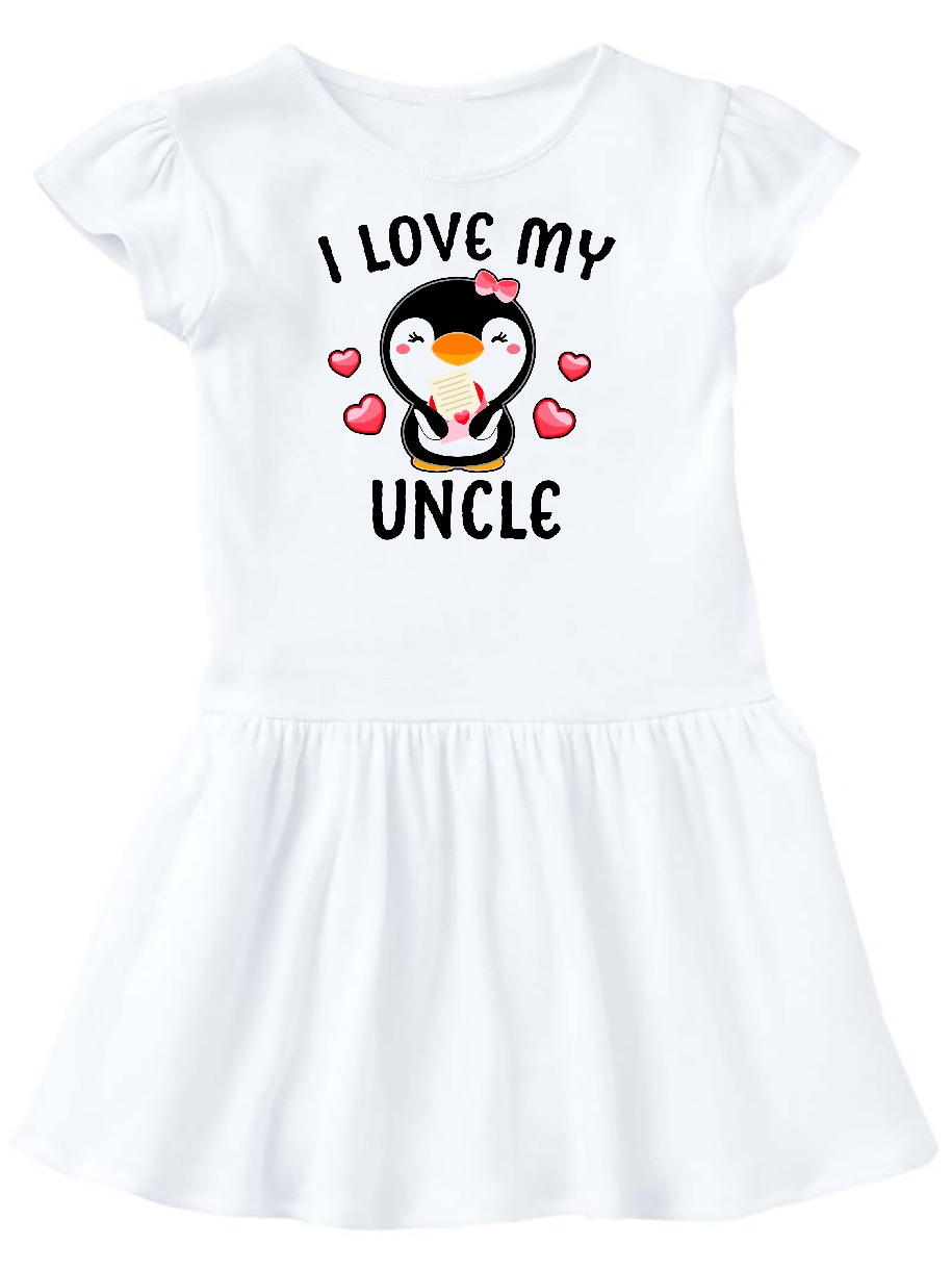 inktastic I Love My Guncle with Cute Penguin and Hearts Toddler T-Shirt