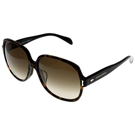 Giorgio Armani Sunglasses Womens GA844 KVX Dark Havana Black Square Size: Lens/ Bridge/ Temple: 59-15-135 ()