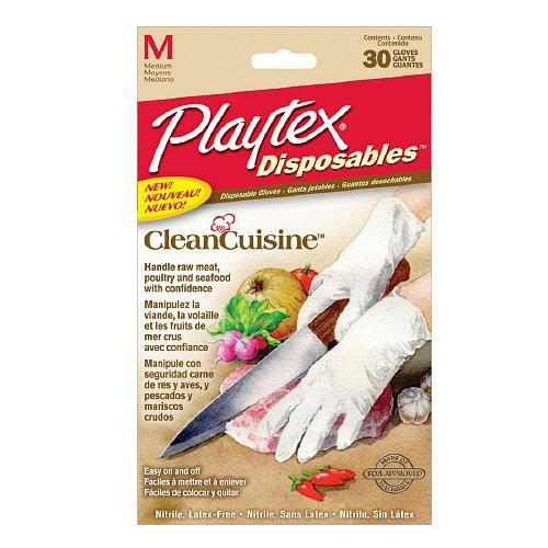 Playtex CleanCuisine Disposable Gloves, Medium, 30 Ct