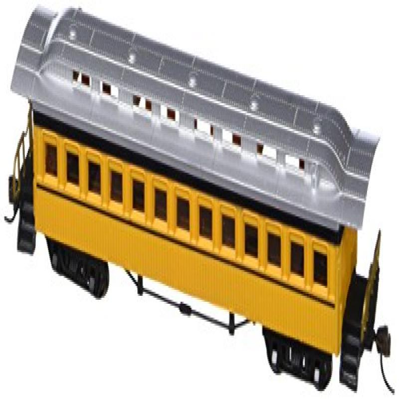 Bachmann Industries 1860 - 1880 Passenger Cars - Coach - Painted, Unlettered Yellow (HO Scale)