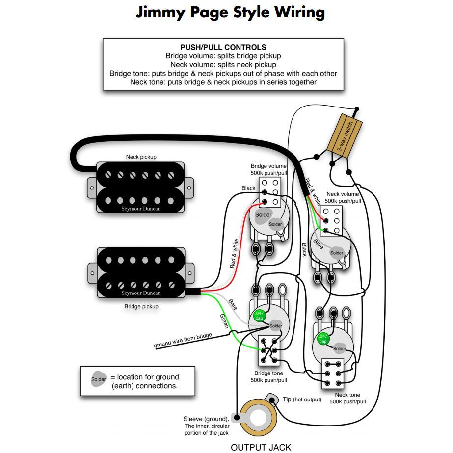 Stupendous Wiring Kit For Jimmy Page Les Paul Allpartscom Wiring Diagram Database Wiring Digital Resources Instshebarightsorg