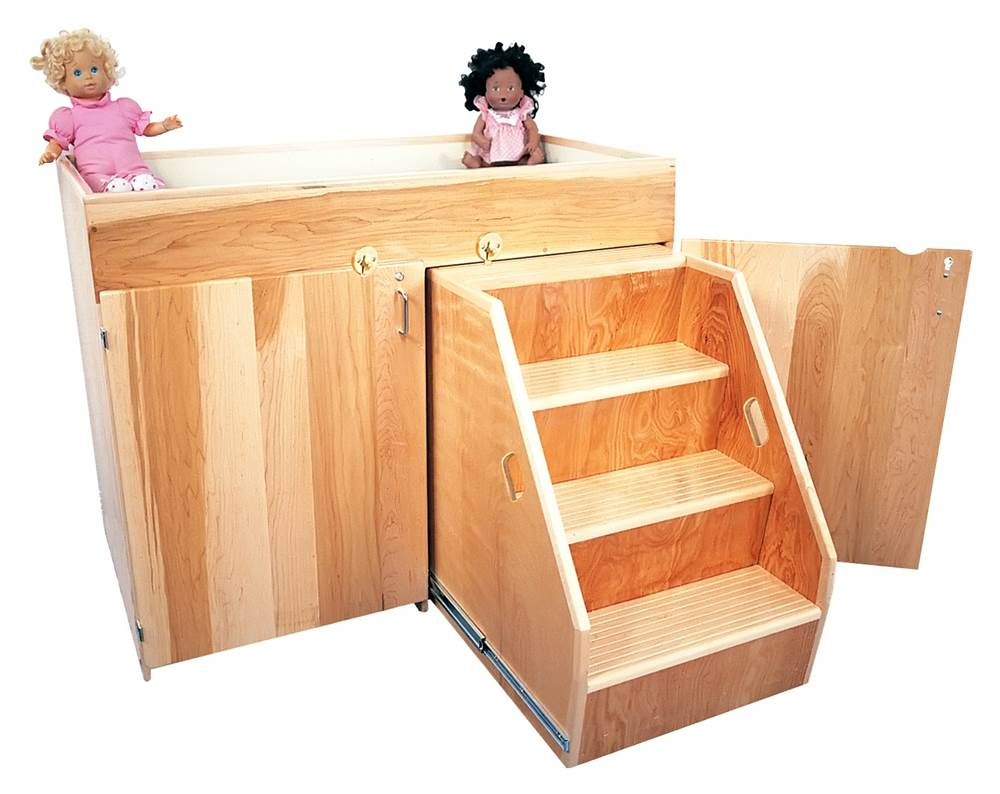 Elegant Deluxe Changing Table W Steps   Walmart.com