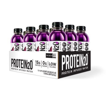 (2 Pack) Protein2o Protein Infused Water, Harvest Grape, 15g Protein, 12 Ct