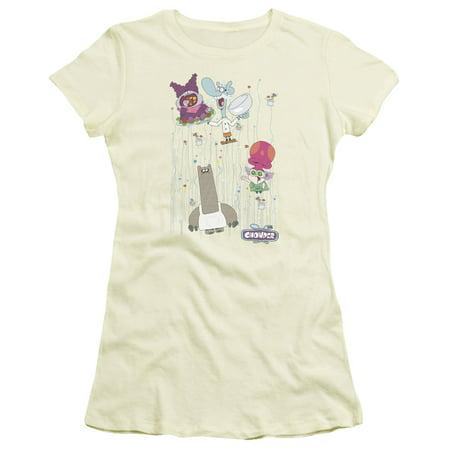 Chowder/Dots Collage Juniors Short Sleeve Shirt