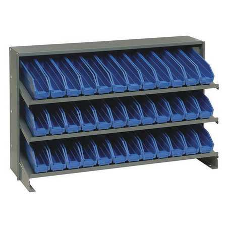 QUANTUM STORAGE SYSTEMS QPRHA-100BL Sloped Shelving System,12Dx36Wx23H,Blue