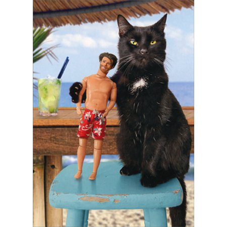 Avanti Press Cat And Doll Friends Humorous / Funny Birthday