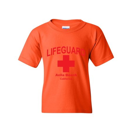 6696e2dcca LifeGuard Avila Beach Lifeguards Red Style w Lifeguard Swimsuit Whistle  Tube Shorts Unisex Youth Kids T-Shirt Tee Clothing - Walmart.com