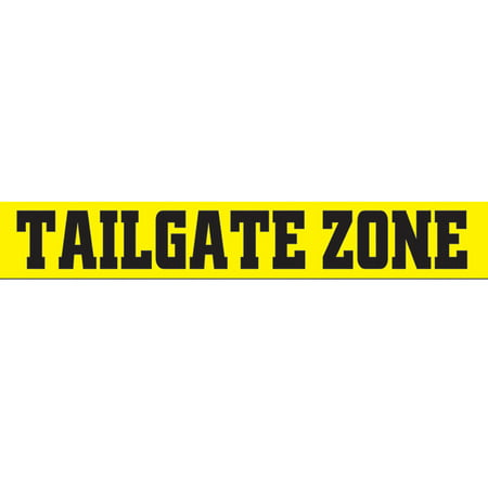 Yellow Tailgate Zone Party Tape Halloween Decoration 3