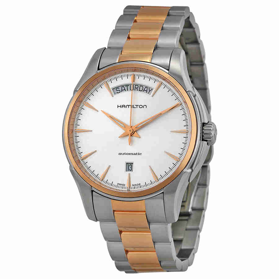 Hamilton Jazzmaster Silver Dial Two-tone Mens Watch H32595151 by Hamilton