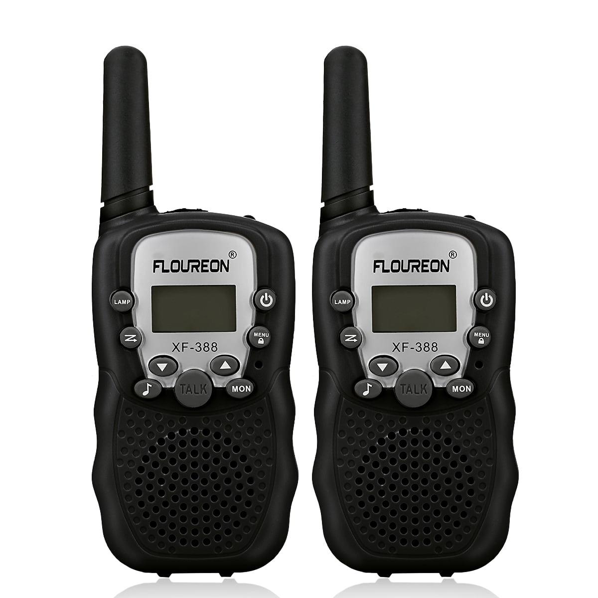 FLOUREON 22 Channel Walkie Talkies UHF462-467MHz 2-Way Radio 3 Km Range Black US by FLOUREON