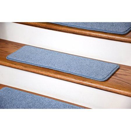 Dean Premium Carpet Stair Treads 27 X 9 Sky Blue Plush Set
