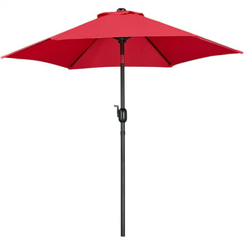 SmileMart 7.5 Foot Patio Umbrella with Crank and Push Button to Tilt