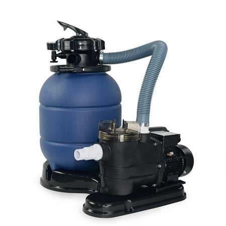 Xtremepowerus 5 way 13 sand filter 10000gal plus 3 4 hp aboveground pool pump for Swimming pool supplies walmart