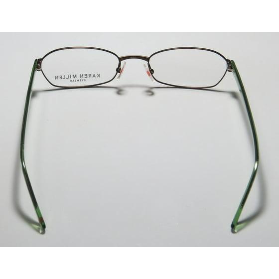 d7e9e4b8a3a New Karen Millen Km0064 Mens Womens Designer Full-Rim Brown   Green With  Glitter Classic Adult Size Budget Frame Demo Lenses 50-17-140 Eyeglasses Eye  ...