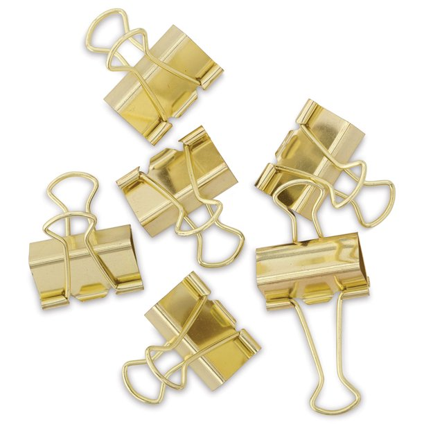 U Brands Gold Binder Clips