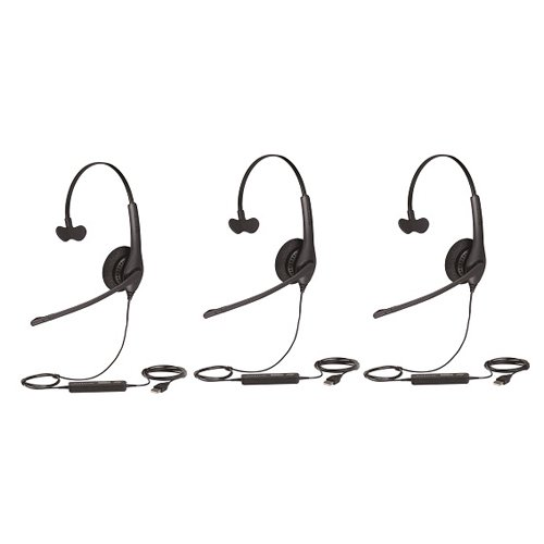 Jabra Biz 1500 Mono Usb Connectivity Headset 1553 0159 Connects To Pc 3 Pack Walmart Com Walmart Com