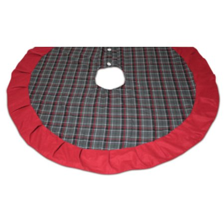 62 rustic lodge grey red and black plaid christmas tree skirt - Walmart Christmas Tree Skirts