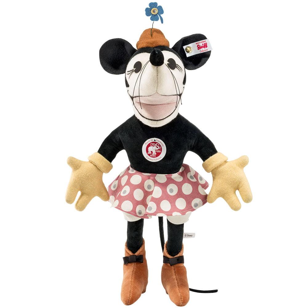 Steiff Disney Minnie Mouse 1932 Vintage Stuffed Plush 90th Birthday Velvet
