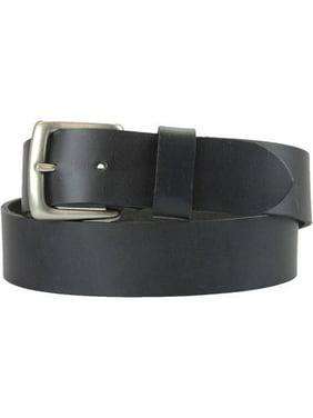 1-1/2 in. US Steer Hide Harness Leather Belt w/ Antq. Nickel Buckle- Black