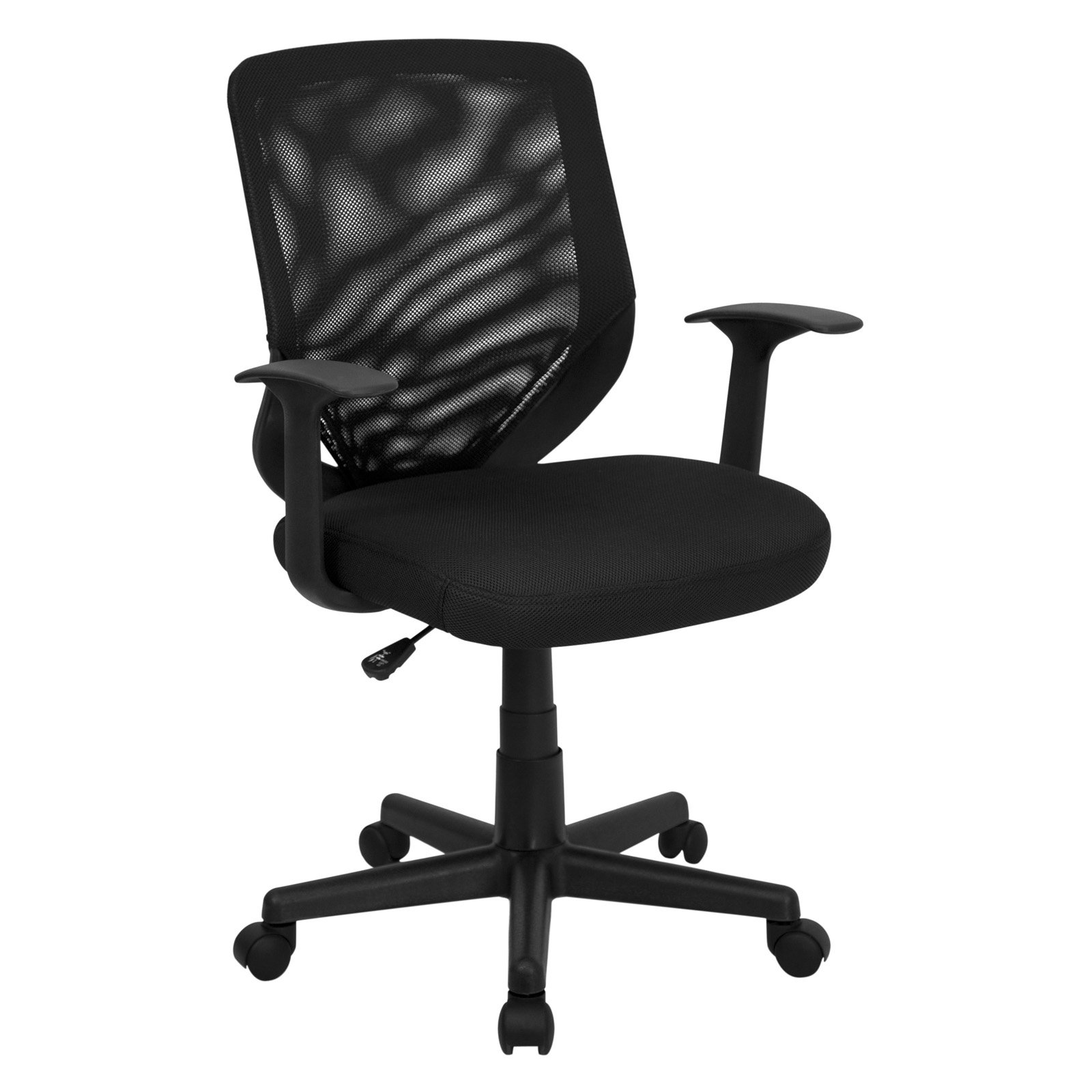 Flash Furniture Howard Mid Back Office Chair With Mesh Fabric Seat