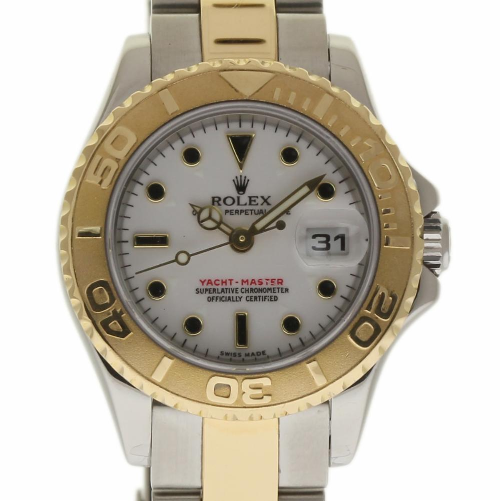 Pre-Owned Rolex Yacht-master 169623 Steel Women Watch (Certified Authentic & Warranty)