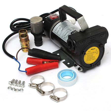 Grtsunsea Car Portable Electric Fuel Diesel Oil Extractor Transfer Pump 45L/Min Vehicle Auto SUV Van Truck 12V 200W US