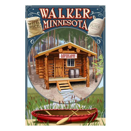 Walker, Minnesota - General Store Scene Print Wall Art By Lantern - Wall Walkers