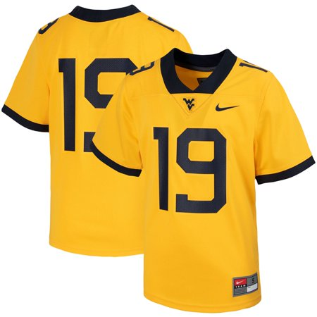 #19 West Virginia Mountaineers Nike Youth Untouchable Football Jersey - Gold West Ham Home Jersey