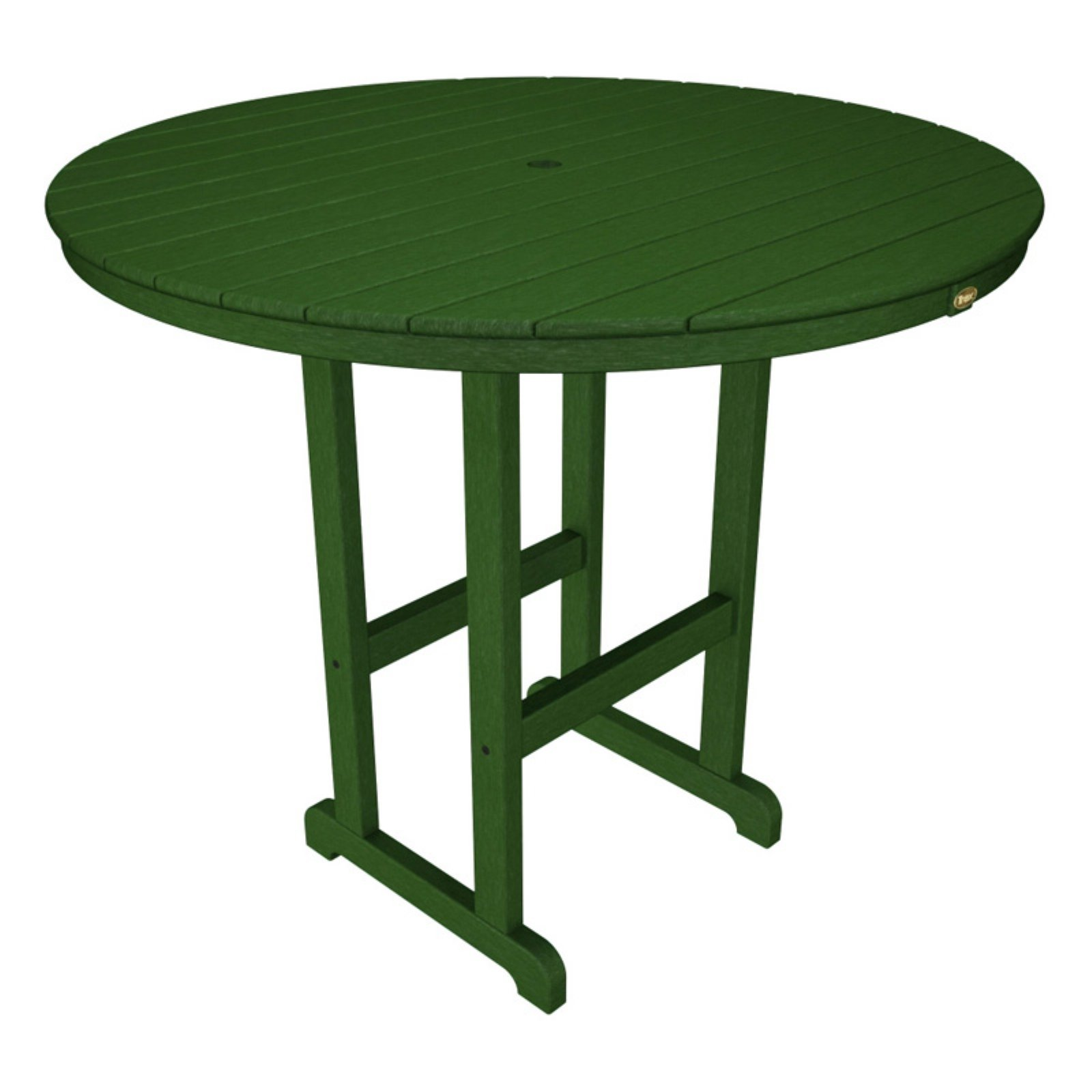 Trex Outdoor Furniture Recycled Plastic Monterey Bay Round Bar Height Table