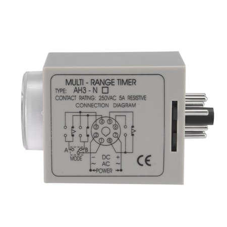 AC220V 3S-30M 8 Terminals Range Adjustable Delay Timer Time Relay AH3-NB w base - image 3 of 5