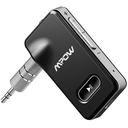 - Mpow Bluetooth 4.1 Receiver, Portable Wireless Audio Adapter, 3.5mm Aux Stereo Output, Hands-free Calling Bluetooth Car Kit (Silver)
