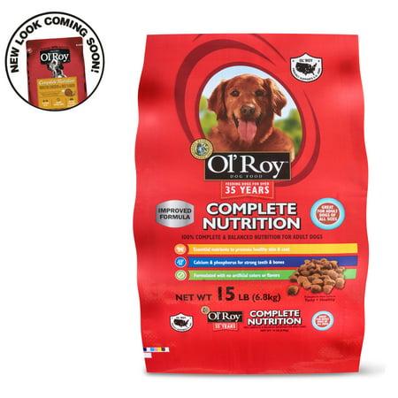 Ol Roy Complete Nutrition Adult Dry Dog Food 15 Lbs Walmart Com