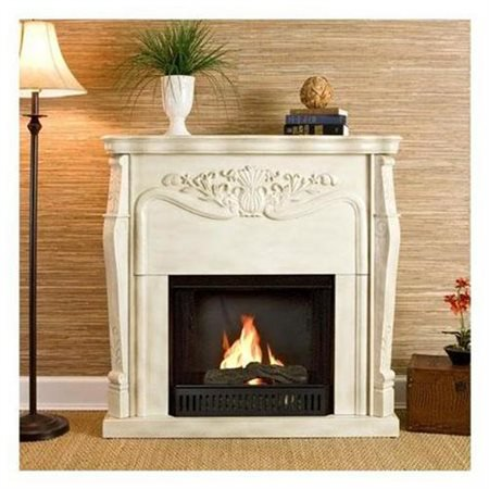 Kendall Electric Fireplace Antique White