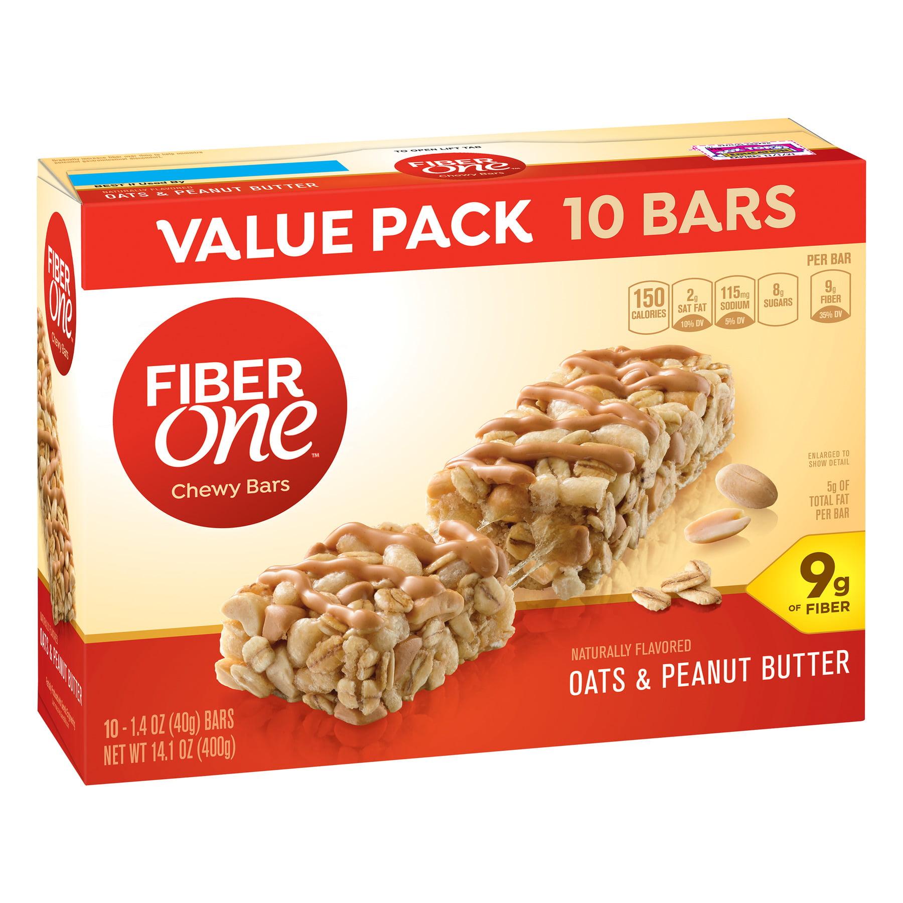 Fiber One Chewy Bar Oats & Peanut Butter 10 Fiber Bars 14.1 oz