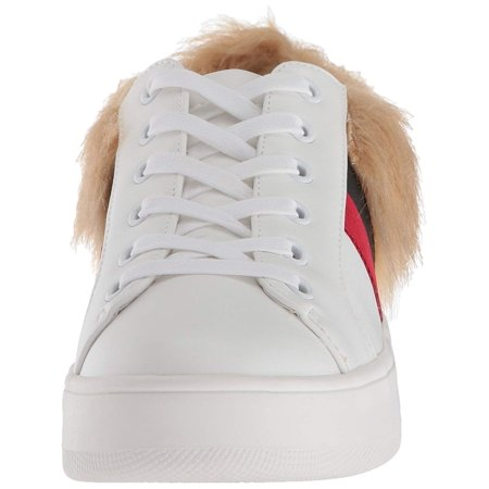 253a16c13 Steve Madden Belle Low To Sneakers, White Multi Fur - image 1 of 2 ...