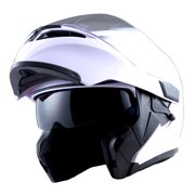 0611468f 1Storm Motorcycle Street Bike Modular Flip up Dual Visor Full Face ...