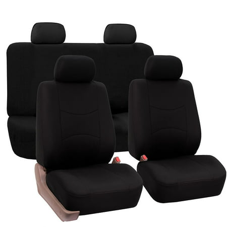 Subaru Impreza Car Seat Covers (FH Group Universal Flat Cloth Fabric Car Seat Cover, Full Set, Black )