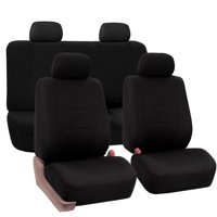 Product Image FH Group Universal Flat Cloth Fabric Car Seat Cover Full Set Black
