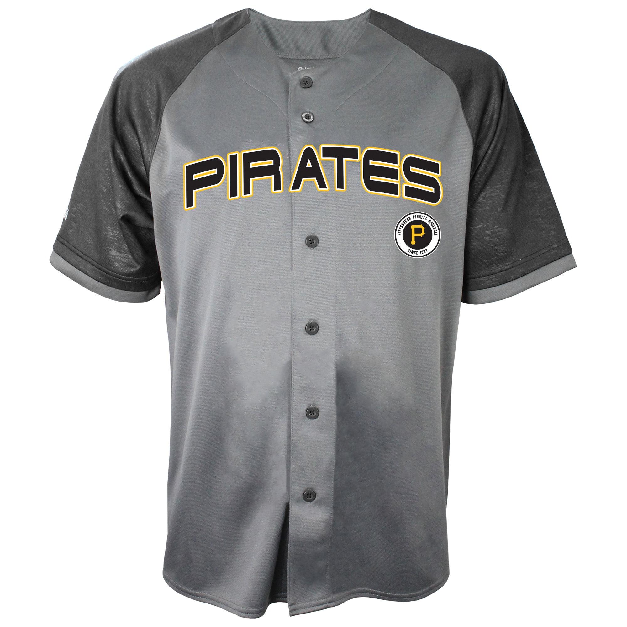 Pittsburgh Pirates Stitches Glitch Jersey - Charcoal/Black