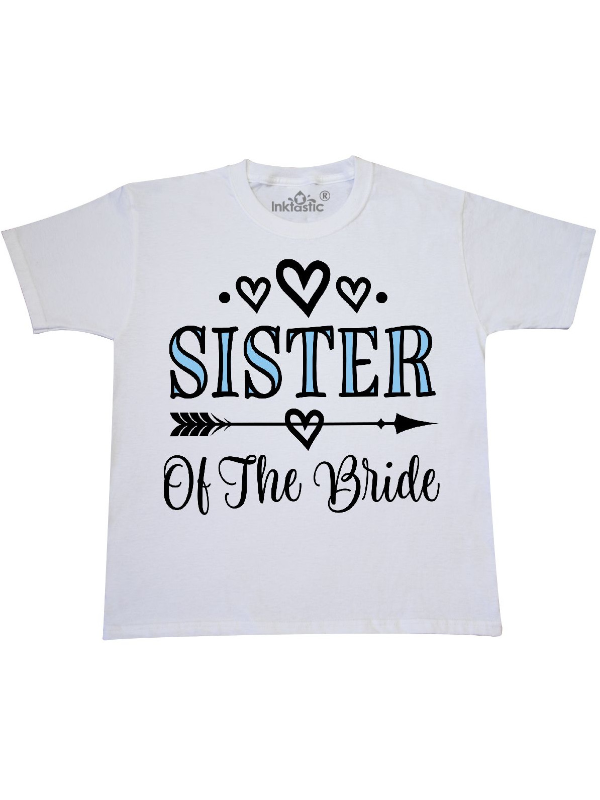Sister Of The Bride Wedding Party Youth T Shirt Walmart