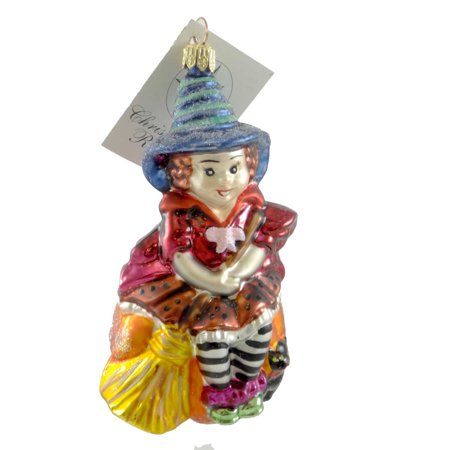 Petites Sorcieres Halloween (Christopher Radko PETITE SIT A SPELL Blown Glass Ornament Halloween)