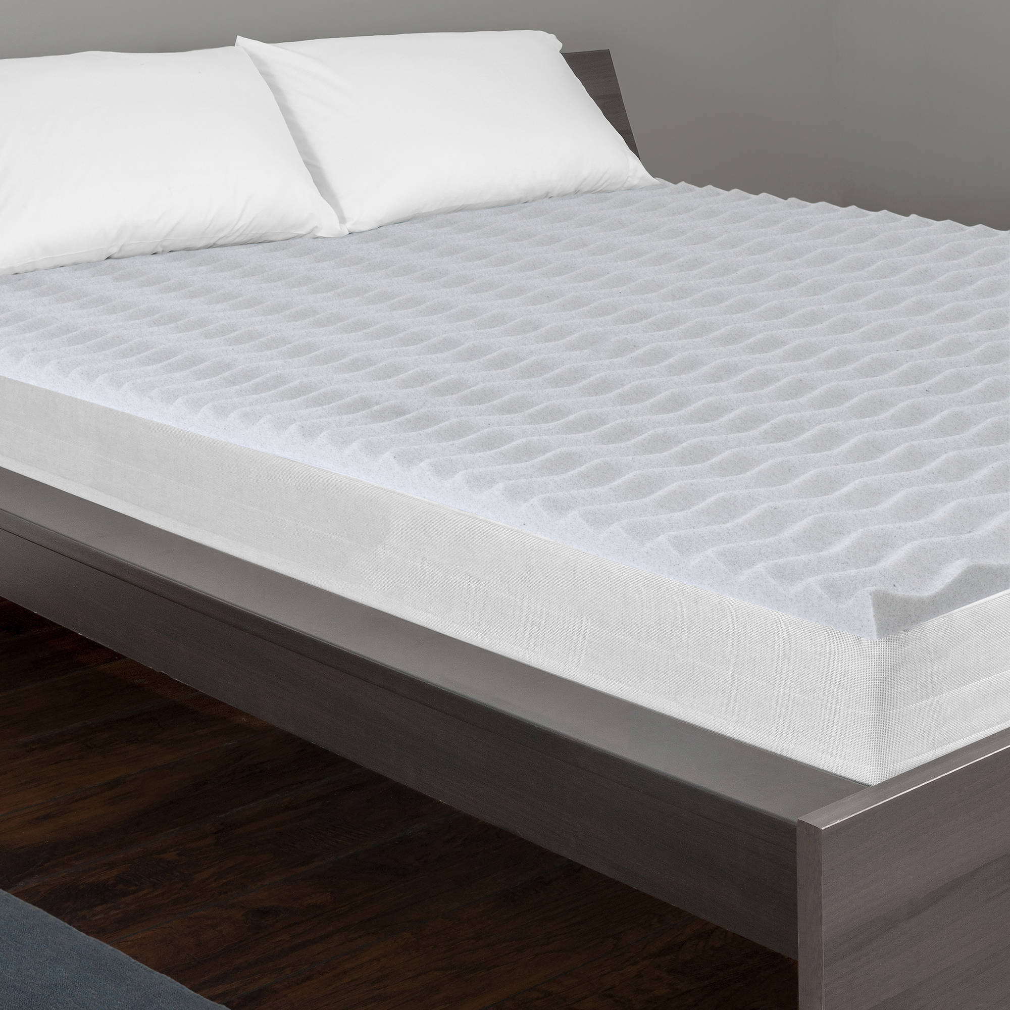 "Dream Serenity 2"" Graphite Wave Mattress Topper Walmart"
