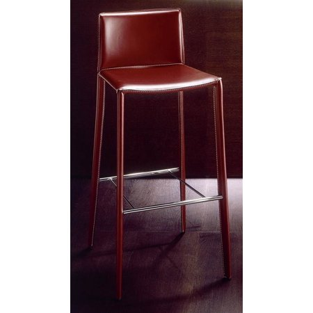 Admirable Linda Bar Stool Upholstered In Leather Dark Brown W Off White Stitching Alphanode Cool Chair Designs And Ideas Alphanodeonline