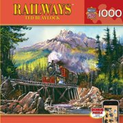 MasterPieces Railways Movin' Thru 71 Jigsaw Puzzle, Art by Ted Blaylock, 1000-Piece