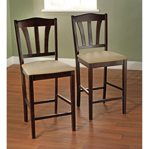 "Metropolitan Stool, 30"", Set of 2, Espresso"