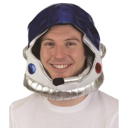 Plush Astronaut Space Helmet Nasa Soft Hat Mask Adult Costume Accessory